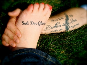 Yep... My foot. Soli Deo Gloria. To the Glory of God alone.