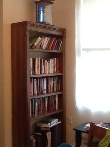 bookshelves dining room 2